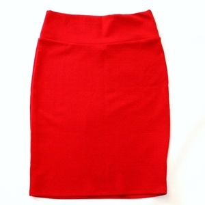 Red Cassie Pencil Skirt by LuLaRoe